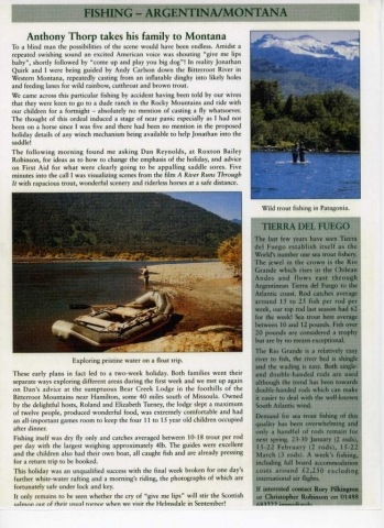 Roxton Bailey Robinson - Worldwide Magazine article by Anthony Thorp - Fishing with Andy Carlson in Western Montana